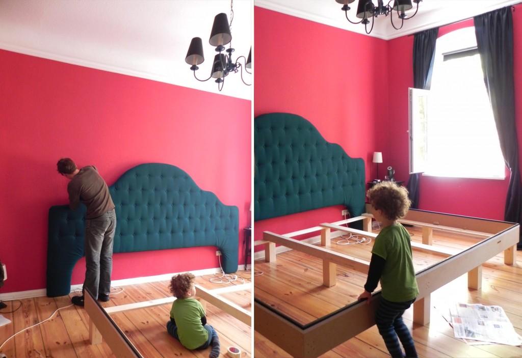 Familienbett bauen- Montage