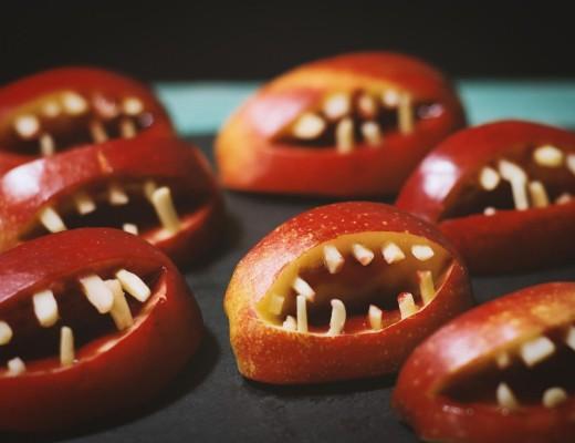 Halloween Apfelgebisse