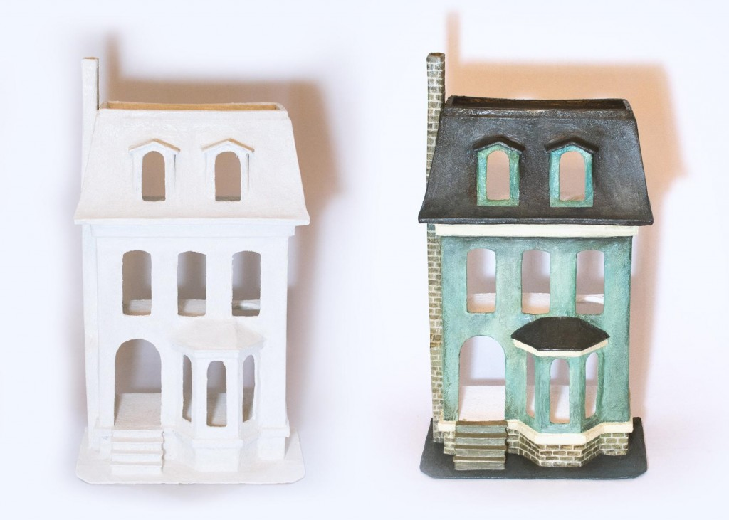 Puppenhaus aus Pappmache DIY 11
