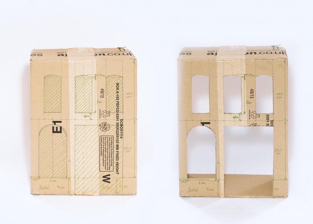 Puppenhaus aus Versandkarton DIY 3