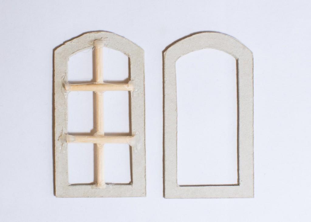 Puppenhaus selber bauen - Fenster