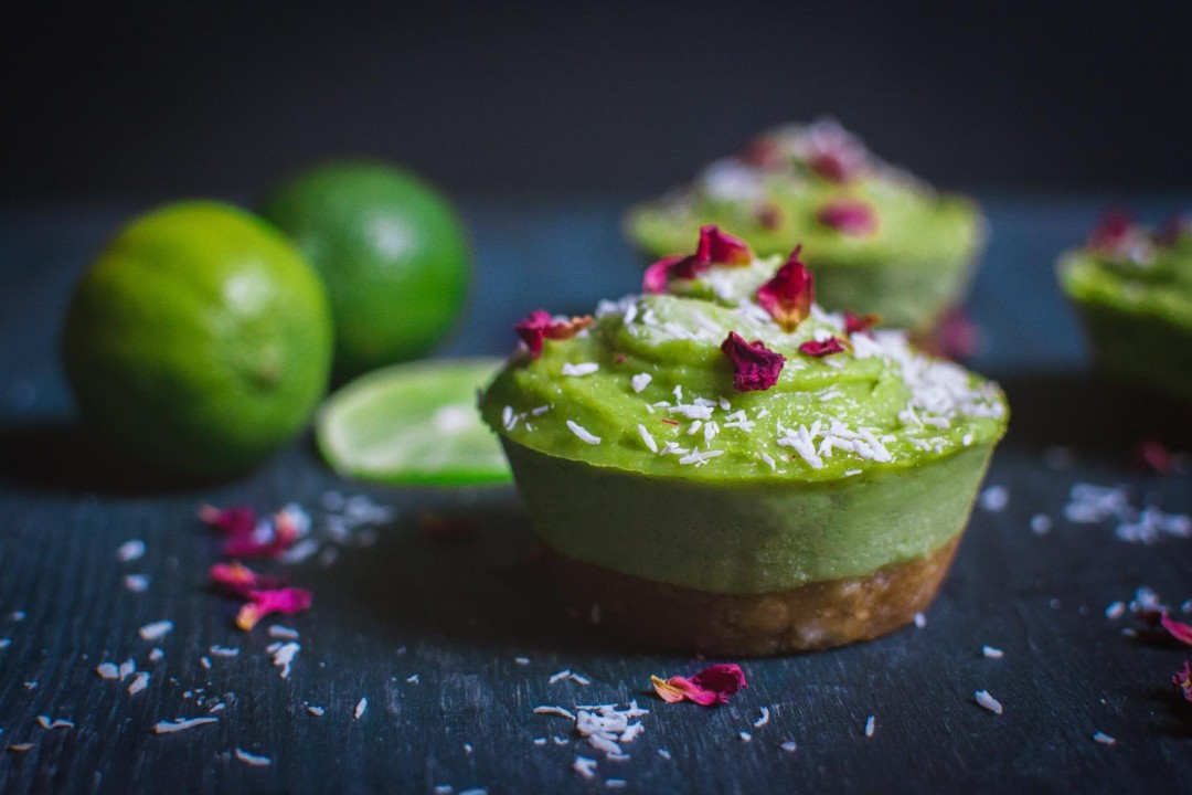 Avocado -Lime Cheesecake raw vegan