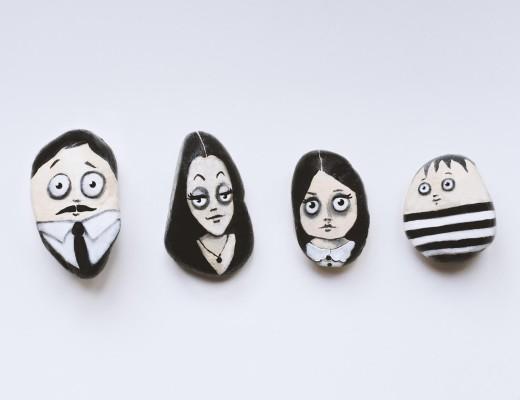 Spielsteine - Steinfiguren Addams Family