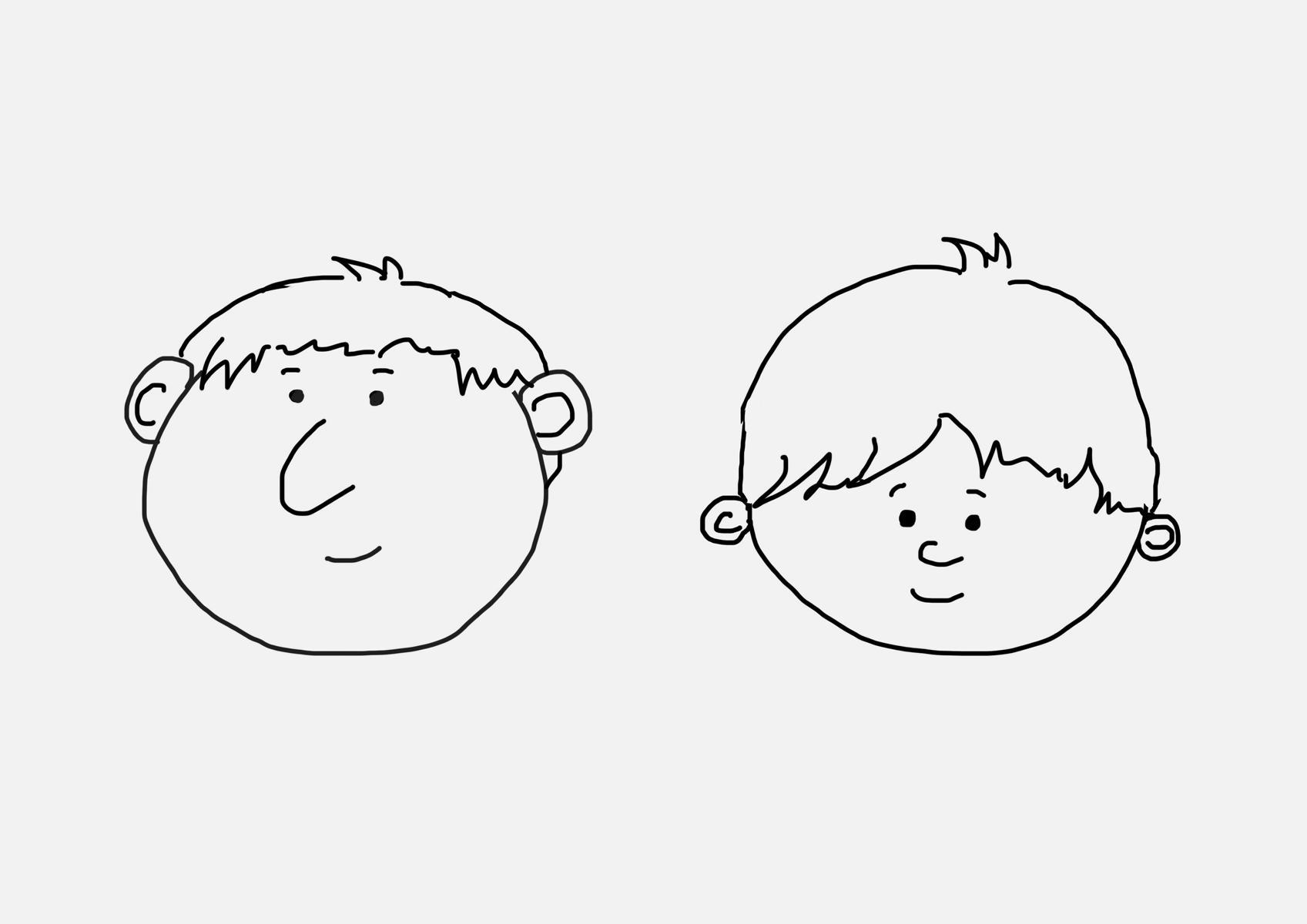 zeichnen lernen - einfache gesichter - artandalmonds