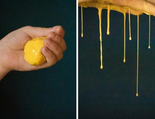Glibber Schleim Knete aus Maisstärke DIY 4