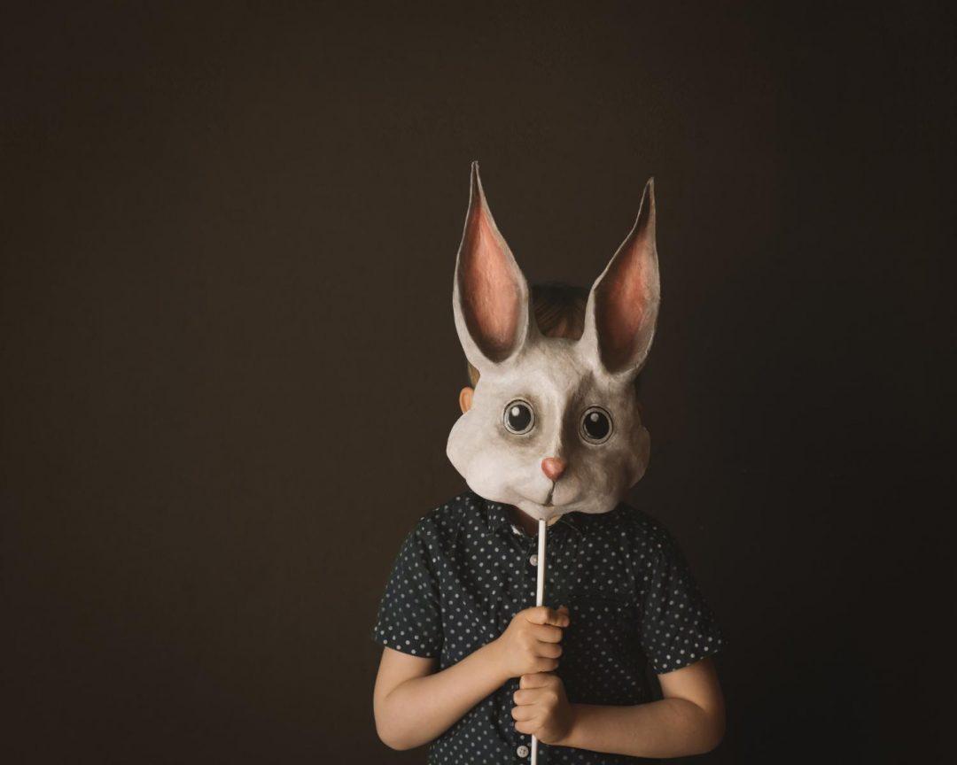 Pappmache Maske selber bauen DIY Hase Ostern 2