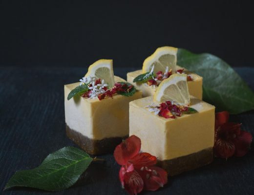 Tropical Mini Cheesecake Roh + Vegan