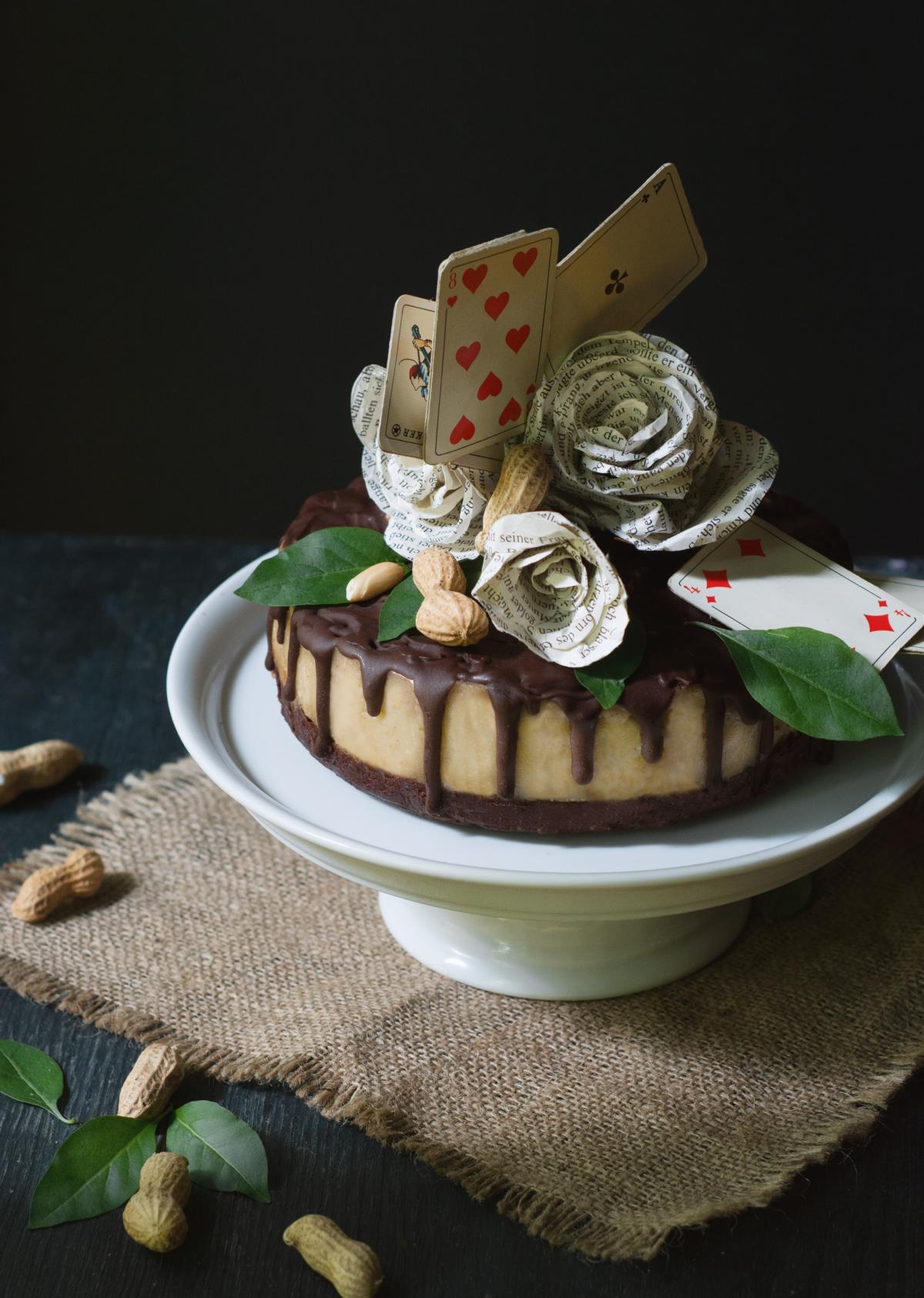 Snickers Torte Vegane Erdnuss Karamell Torte Art & Almonds 3